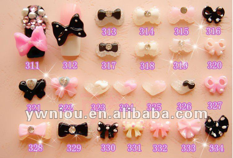 Bow 3d nail art decoration for 3d nail art decoration
